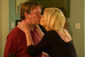 Ian Beale kisses his late ex-wife Cindy in a special Children In Need episode of Eastenders