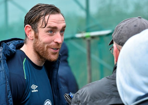 Richard Keogh during a press conference ahead of their UEFA EURO 2016 Championship qualifer with Scotland