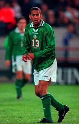 'He remembers a newspaper thing with Phil Babb, Terry Phelan, Paul and Chris Hughton. The racist letters flooded in.' Photo By Brendan Moran/Sportsfile