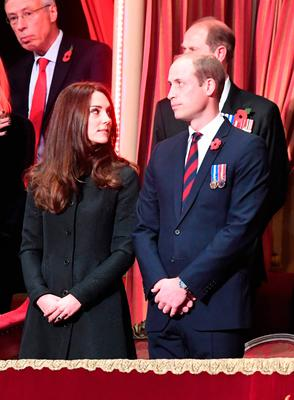 The Duke and Duchess of Cambridge attend the annual Royal Festival of Remembrance at the Royal Albert Hall in London