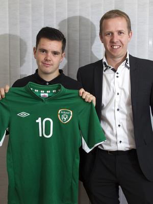 Liam Kelly with Independent.ie's Kevin Palmer
