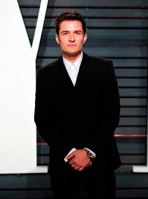 Orlando Bloom arriving at the Vanity Fair Oscar Party in Beverly Hills, Los Angeles, USA.