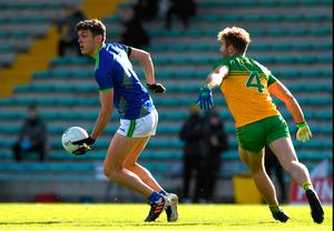 Kerry's David Clifford in action against Stephen McMenamin of Donegal during the Allianz Football League Division 1 tie at Austin Stack Park in Tralee last October. Photo by Matt Browne/Sportsfile