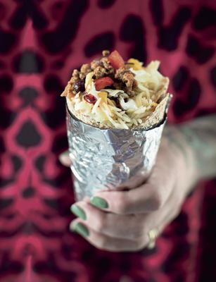 Beef burrito. Photo by Leo Byrne