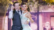 RTE's Marty Morrissey and Ksenia Zsikhotska during the opening show of RTE's Dancing with the Stars. kobpix