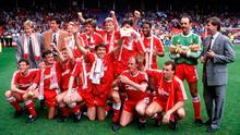 The last Liverpool title-winning side of 1990, which had no shortage of quality players – unlike the class of 2016/17 under Jurgen Klopp. Photo by Bob Thomas/Getty Images