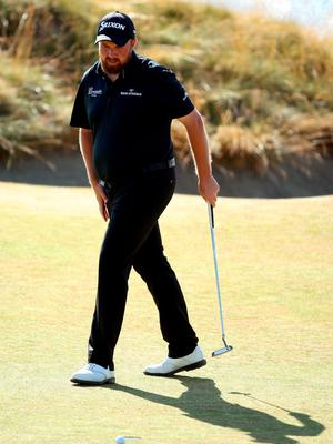 UNIVERSITY PLACE, WA - JUNE 20:  Shane Lowry of Ireland reacts to a missed putt during the third round of the 115th U.S. Open Championship at Chambers Bay on June 20, 2015 in University Place, Washington.  (Photo by Andrew Redington/Getty Images)