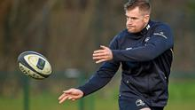 Leinster's Jamie Heaslip in action during squad training