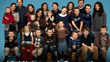Members of the Duggar Family pose for a picture for series '19 Kids And Counting' for TLC networkd  Pic: TLC