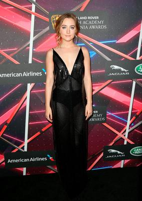 Actress Saoirse Ronan attends the 2015 Jaguar Land Rover British Academy Britannia Awards presented by American Airlines at The Beverly Hilton Hotel on October 30, 2015 in Beverly Hills, California.  (Photo by Frederick M. Brown/Getty Images for BAFTA LA)