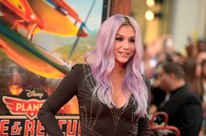 "Singer/songwriter Kesha attends the premiere of Disney's ""Planes: Fire & Rescue"" at the El Capitan Theatre on July 15, 2014 in Hollywood, California.  (Photo by Jason Kempin/Getty Images)"