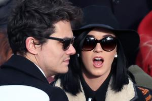 Musicians John Mayer and Katy Perry