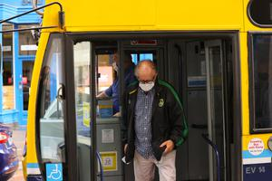 It is now mandatory to wear face masks on public transport Photo: Mark Condren