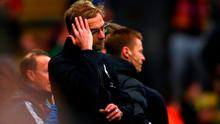 Jurgen Klopp: 'I would say hopefully it is the most disappointing moment in my whole Liverpool FC life, from now'. Photo: Ian Walton/Getty Images