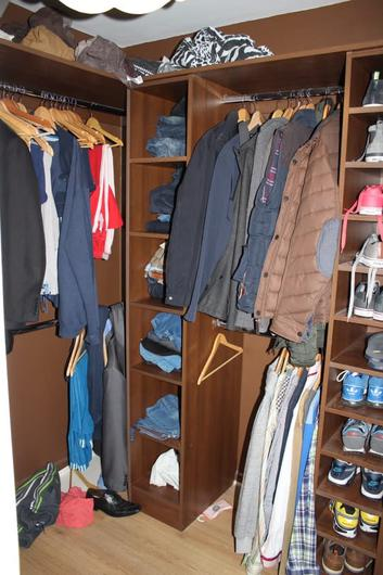 A wardrobe in the house