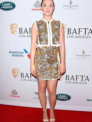 Saoirse Ronan attends The BAFTA Los Angeles Tea Party at Four Seasons Hotel Los Angeles at Beverly Hills on January 04, 2020 in Los Angeles, California. (Photo by Jon Kopaloff/Getty Images)