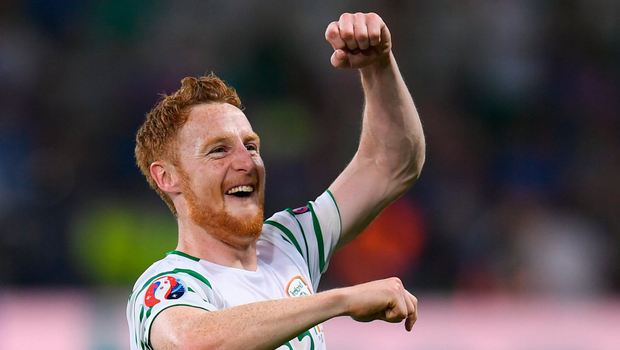 Stephen Quinn earned a front-row seat to the finest moment in recent Irish soccer history. Photo by Stephen McCarthy / Sportsfile
