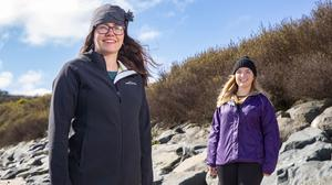 31/03/2020. Pictured at St. Helens Bay, Co. Wexford are Dr. Sinead Crowley and Dr. Niamh Grayson who flew in from Perth on Thursday. Picture: Patrick Browne