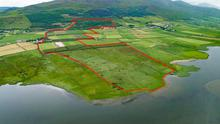 Mountain to sea: The 236ac non-residential holding is located near Castlegregory, 25km from Tralee, and has a guide price of €1.1m