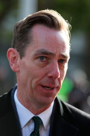 RTE's Ryan Tubridy, presenter of The Late Late Show, arrives for the funeral of the celebrated broadcaster Gay Byrne at St. Mary's Pro-Cathedral in Dublin.  Brian Lawless/PA Wire