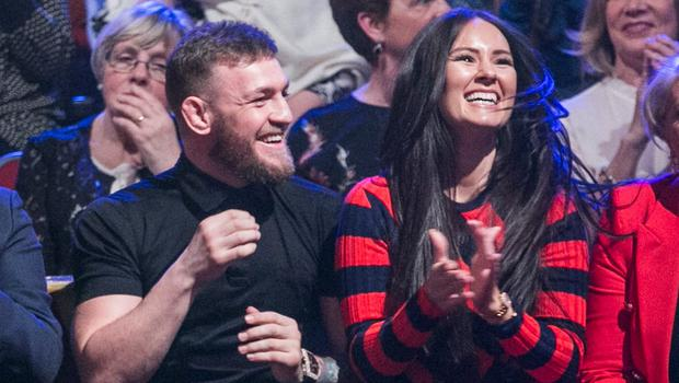 Conor McGregor with his partner Dee Devlin in the crowd of RTE's Dancing with the Stars. Photo: Kyran O'Brien