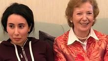 GOOD FAITH:  In this photograph released last month by the United Arab Emirates' Ministry of Foreign Affairs, Sheikha Latifa is seen with Mary Robinson, who later faced criticism. Picture: AP