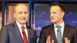 Double act: The promises of Micheál Martin and Leo Varadkar seem fanciful at best. Photo: Frank McGrath
