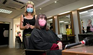 29/06/2020 Tara Murphy & Louise Cantwell from Donnycarney at Ultimate Hair & Beauty which has reopened as part of an easing of Covid 19 restrictions in GPO Arcade, Dublin. Photo:Gareth Chaney/Collins