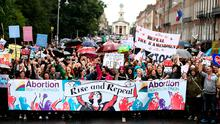 'In an effort to push the Government to call a referendum, the privileged, inexperienced, misandric pro-abortion movement is calling on us to down tools, wear black and get local businesses to shut up shop'. Photo: Gerry Mooney