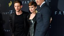 """NEW YORK, NY - AUGUST 04:  (L-R) Actors Jamie Bell, Miles Teller and Kate Mara attend the New York premiere of """"Fantastic Four"""" at Williamsburg Cinemas on August 4, 2015 in New York City.  (Photo by Jamie McCarthy/Getty Images)"""