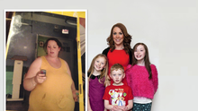 From fat to fit: Emma struggled to fit into a size 28 but now she is a size 14.