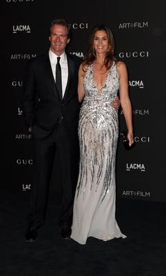Rande Gerber and model Cindy Crawford attend the 2014 LACMA Art + Film Gala honoring Barbara Kruger and Quentin Tarantino presented by Gucci at LACMA