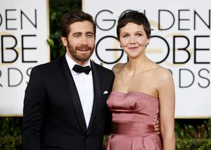 Actor Jake Gyllenhaal and his sister, actress Maggie Gyllenhaal, arrive at the 72nd Golden Globe Awards in Beverly Hills, California. Reuters/Mario Anzuoni