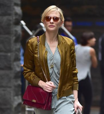 Cate Blanchett is seen on August 13, 2014 in New York City.  (Photo by Alo Ceballos/GC Images)