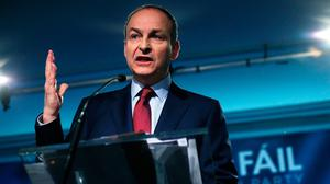 The quiet man: Micheál Martin has been silent on finding policies that will give Fianna Fáil powerful bargaining tools in forming a government. Photo: Brian Lawless/PA Wire