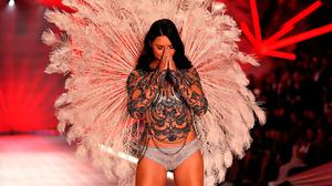 Brazilian model Adriana Lima walks the runway at the 2018 Victoria's Secret Fashion Show on November 8, 2018 at Pier 94 in New York City