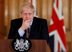 Monitored: UK Prime Minister Boris Johnson is being kept in intensive care as he battles Covid-19. Photo: REUTERS