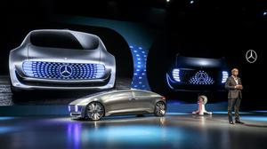Dr Dieter Zetsche, Chairman of Daimler AG and Head of Mercedes-Benz Cars is presenting the Mercedes-Benz F 015 Luxury in Motion.With the self-driving luxury sedan F 015 Luxury in Motion, Mercedes-Benz shows how the automobile is changing from a means of transportation to a private retreating space.