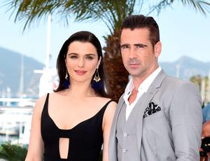 Rachel Weisz and Colin Farrell at the Cannes Film Festival promote their movie 'The Lobster'.