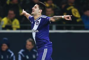 Mitrovic has scored 31 goals in 65 appearances for Anderlecht, whom he joined from Partizan Belgrade in 2013, including the 90th-minute equaliser in the stunning 3-3 Champions League draw against Arsenal in November.