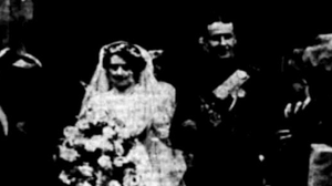 The wedding photo of Gilbert Potter and Mary Lillis (Lily) Harding, Charleville