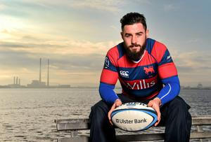 Clontarf's Mick McGrath, pictured at the launch of the Ulster Bank AIL awards, has earned a Leinster contract until the end of the season. Ramsey Cardy / SPORTSFILE