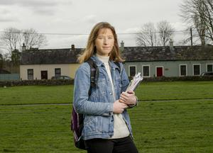 Warning: Leaving Cert student Anna O'Connor in Blarney, Co Cork. Photo: Daragh McSweeney/Provision