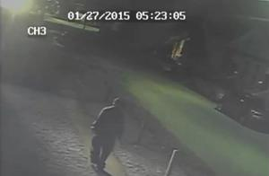CCTV footage shows two men in the vicinity of the area of the attack