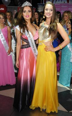 Former Miss Irelands Holly Carpenter (left) and Emma Waldron (right)