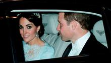 The Duchess of Cambridge leaves a diplomatic reception at Buckingham Palace, wearing one of the late Princess of Wales's favourite tiaras, with her husband the Duke of Cambridge. Photo: Yui Mok/PA Wire