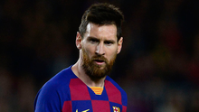 Lionel Messi and his first team peers who account for all but around €55m of Barcelona's €671m wage bill.  Photo: Getty Images