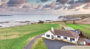 As seaside as you can get: An eagle's eye view of the bungalow and it's site of 0.66 acres