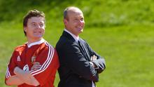 Brian O'Driscoll and Clive Woodward after O'Driscoll was named Lions captain in 2005. Picture credit; Brendan Moran / SPORTSFILE