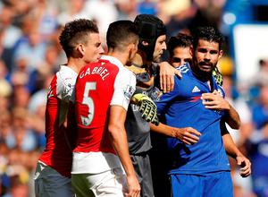 Chelsea's Diego Costa clashes with Arsenal's Gabriel Paulista  Action Images via Reuters / John Sibley Livepic